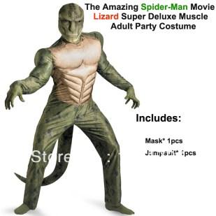 The-Amazing-Spiderman-Movie-Lizard-Deluxe-font-b-Muscle-b-font-font-b-Costume-b-font