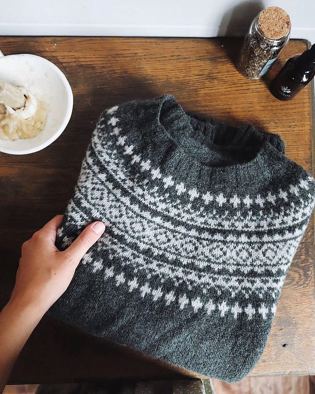 fair isle sweater dark grey