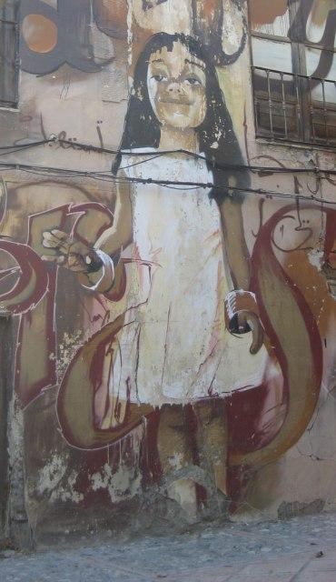 happy girl in granada