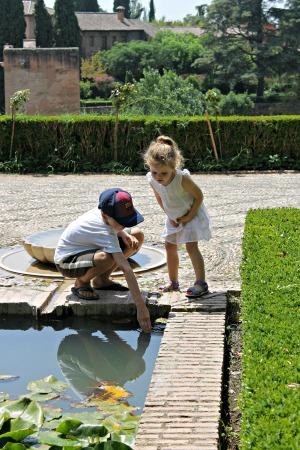 Kids at the Generalife