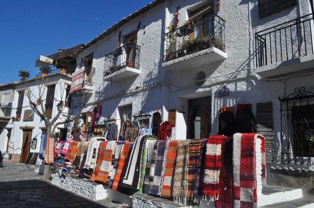 Rug shops in Pampaneira