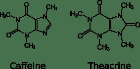 Teaktyna i kofeina - porównanie działania