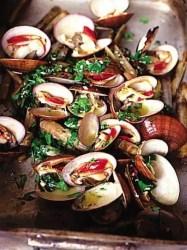 shellfish on barbeque