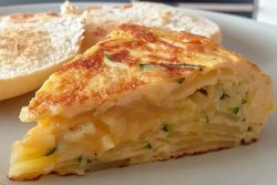 tortilla with courgette