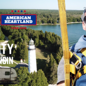 Ep. 165 Door County | Wisconsin RV travel camping parasailing kayaking