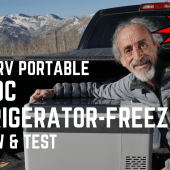 Ep. 178: BougeRV Portable AC/DC Refrigerator-Freezer | Review & Test | RV camping travel gear