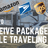 Ep. 184: How to Receive Packages While Traveling | RV camping travel mail