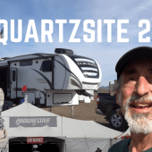 Ep. 187: Quartzsite! LTVA Camping, Big Tent, Q21 Meetup & Desert Bar
