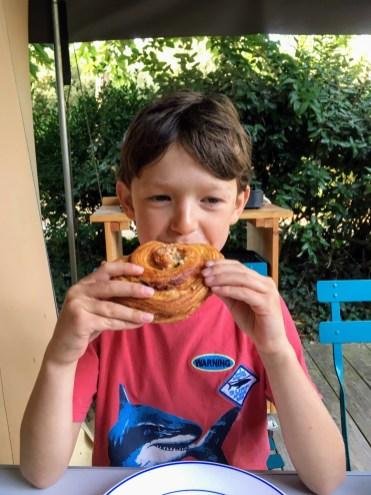 Daily croissants at camp