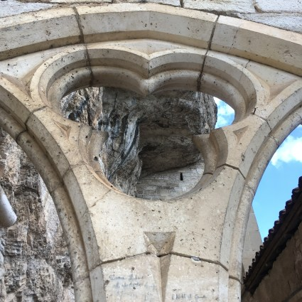 A detail of the medieval architecture