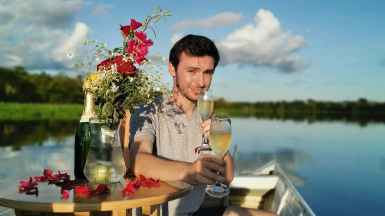 Honeymoon Celebration in the Amazon Jungle along Amazon River