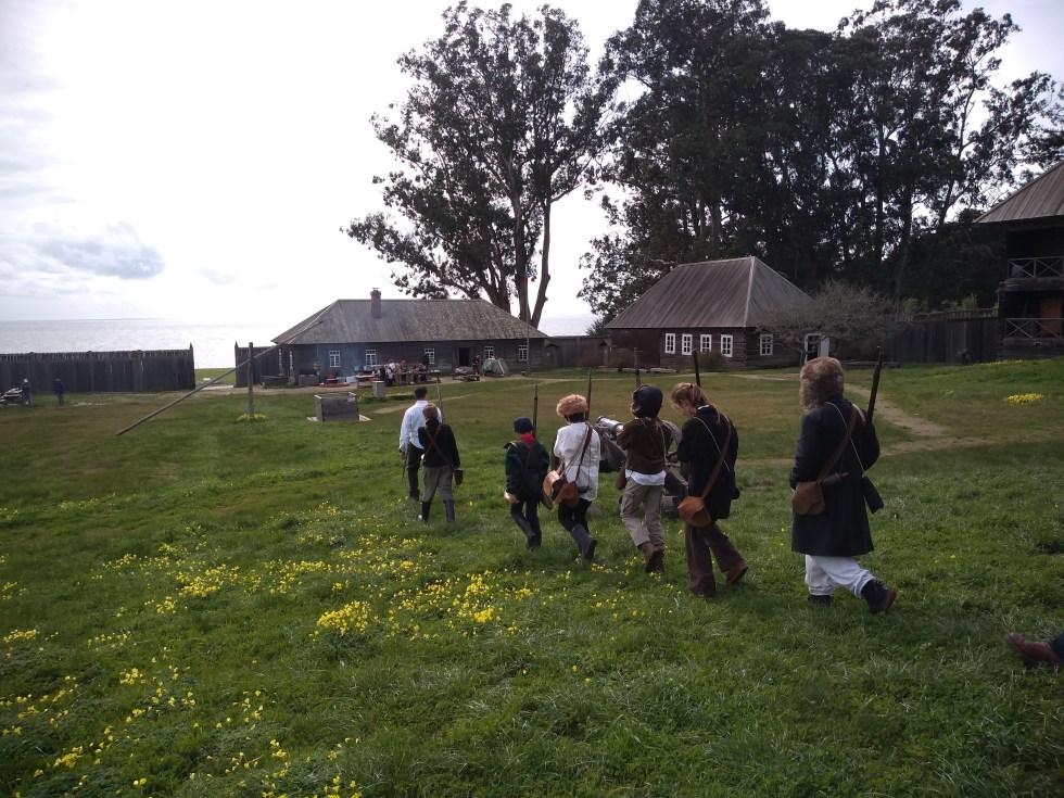 schoolchildren at Fort Ross