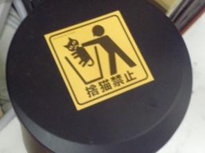Il est strictement interdit de jeter les chats à la poubelle. Non miaou !