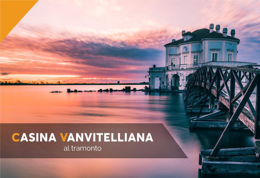 Visita guidata, aperitivo e music live al tramonto alla Casina Vanvitelliana