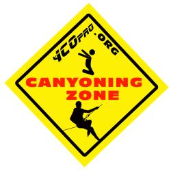 canyoning zone