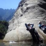 Pause dans le canyon de Fleur Jaune