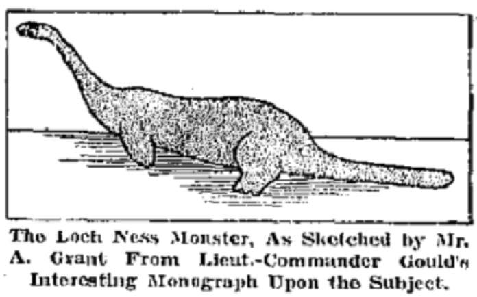 Boceto avistamiento de Nessie - ¿Existe realmente el monstruo del lago Ness? La ciencia lo explica