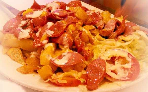 chorizo patatas plato