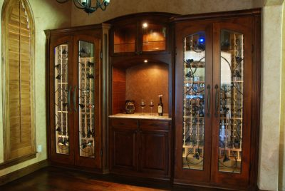 Conditioned Wine Cabinet with countertop