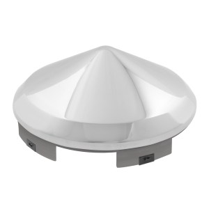 """Chrome Plated 1"""" Cone Universal Front Hub Cap"""