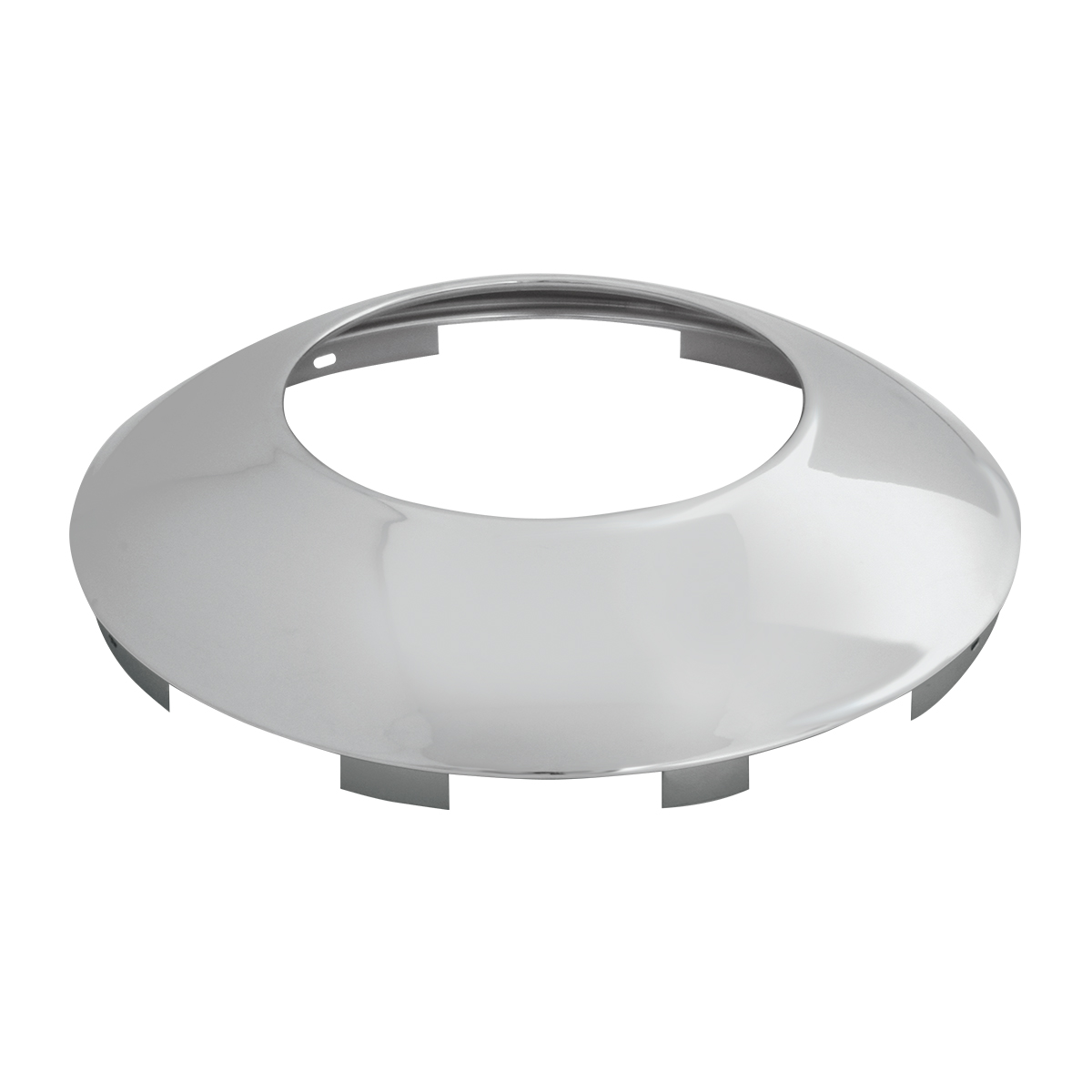 """Chrome Plated ⁷∕₁₆"""" Universal Front Notched Hubdometer Cap"""