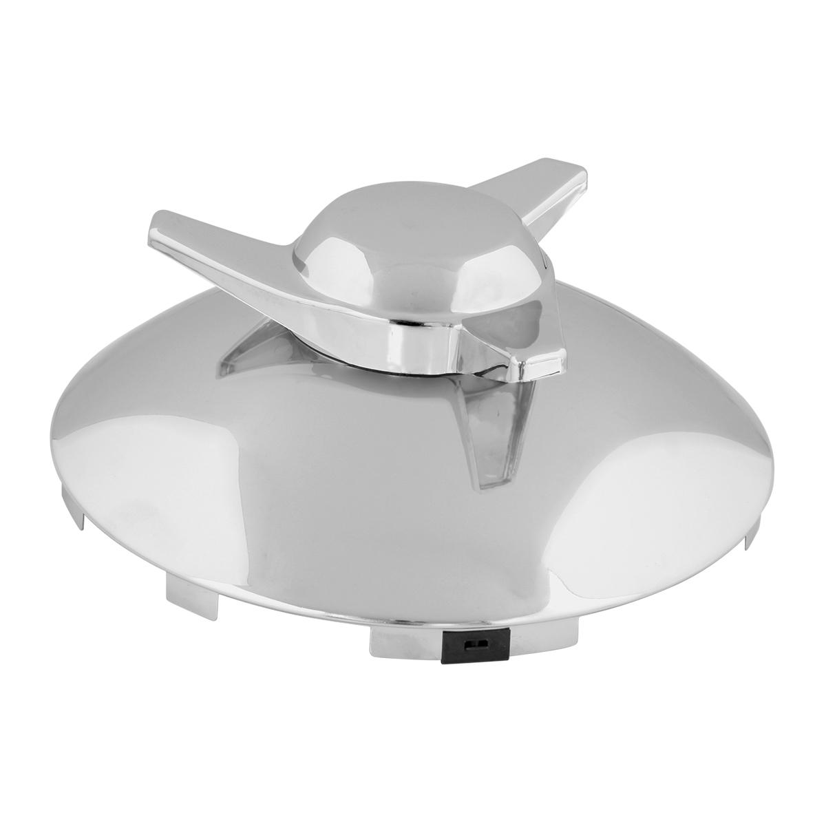 Full Moon Rear Hub Cap GG Grand General 20100 Chrome Plated Steel 8-1//4 8-1//4 Inches I.D