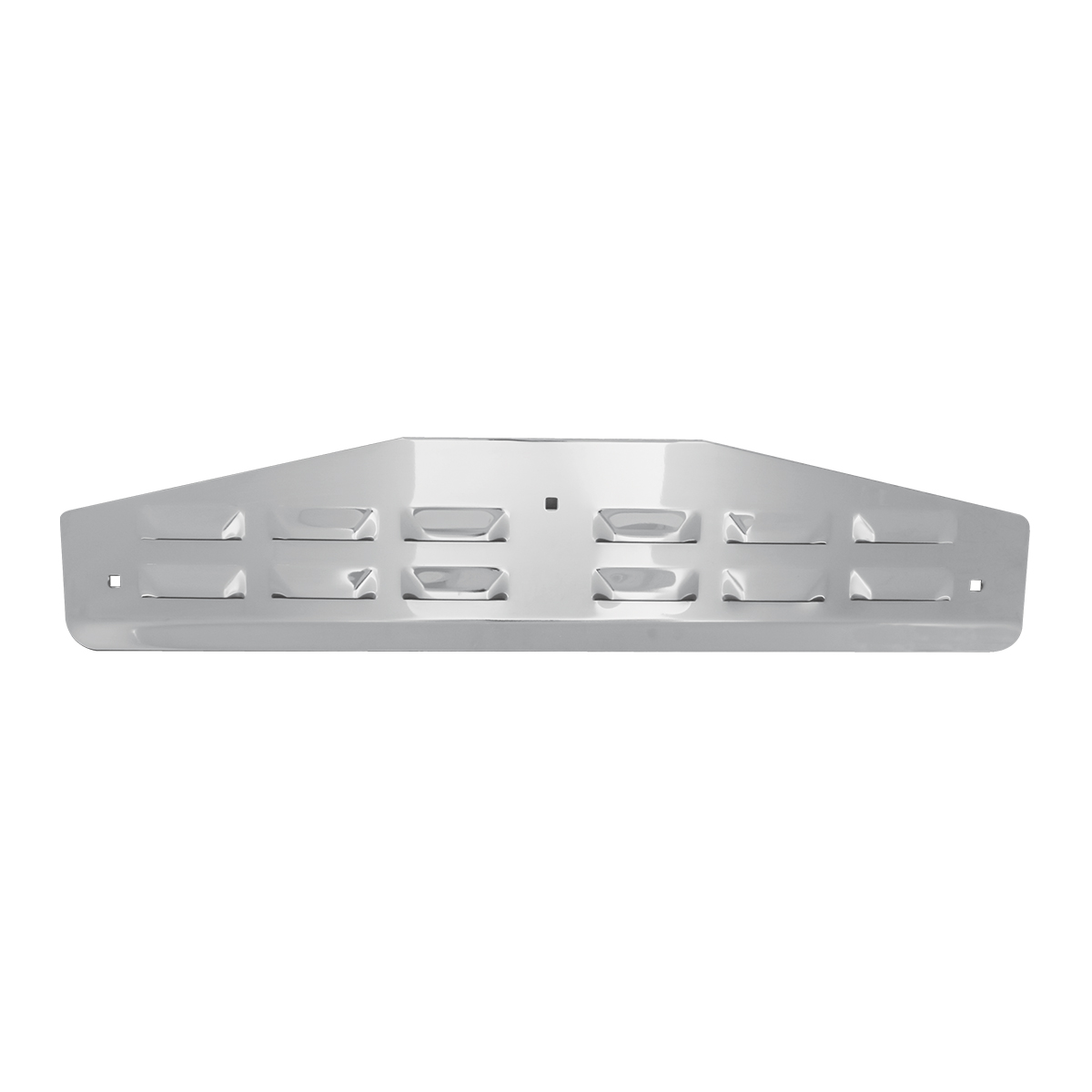 "Chrome Plated Steel ""V"" Bent Louver Style Bottom Mud Flap Plate"