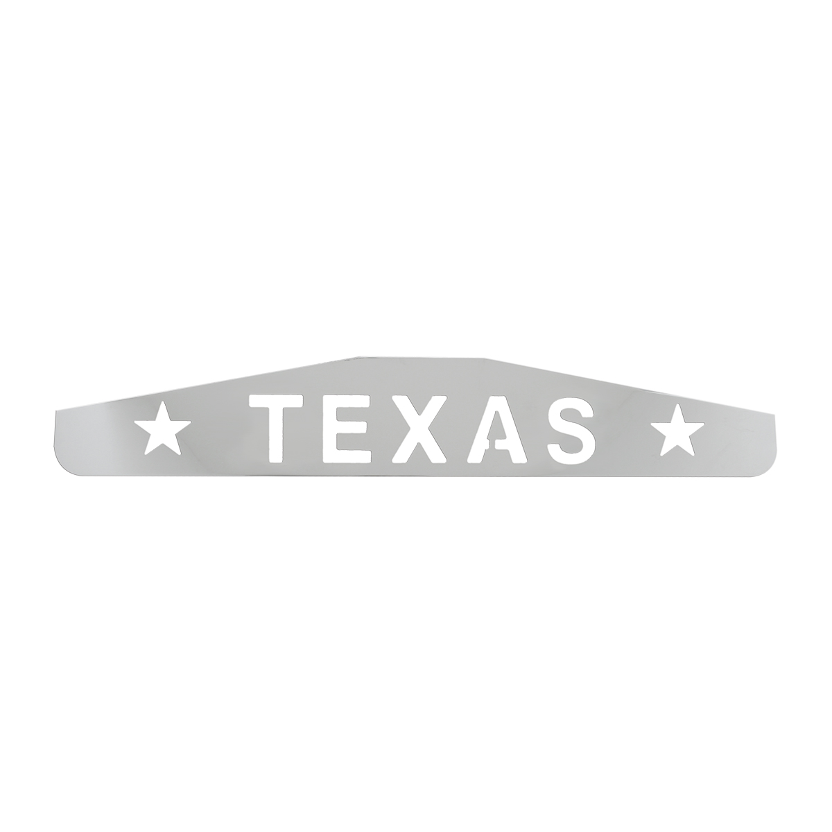 "Bottom Maud Flap Plate with ""Texas with Stars"" Script"