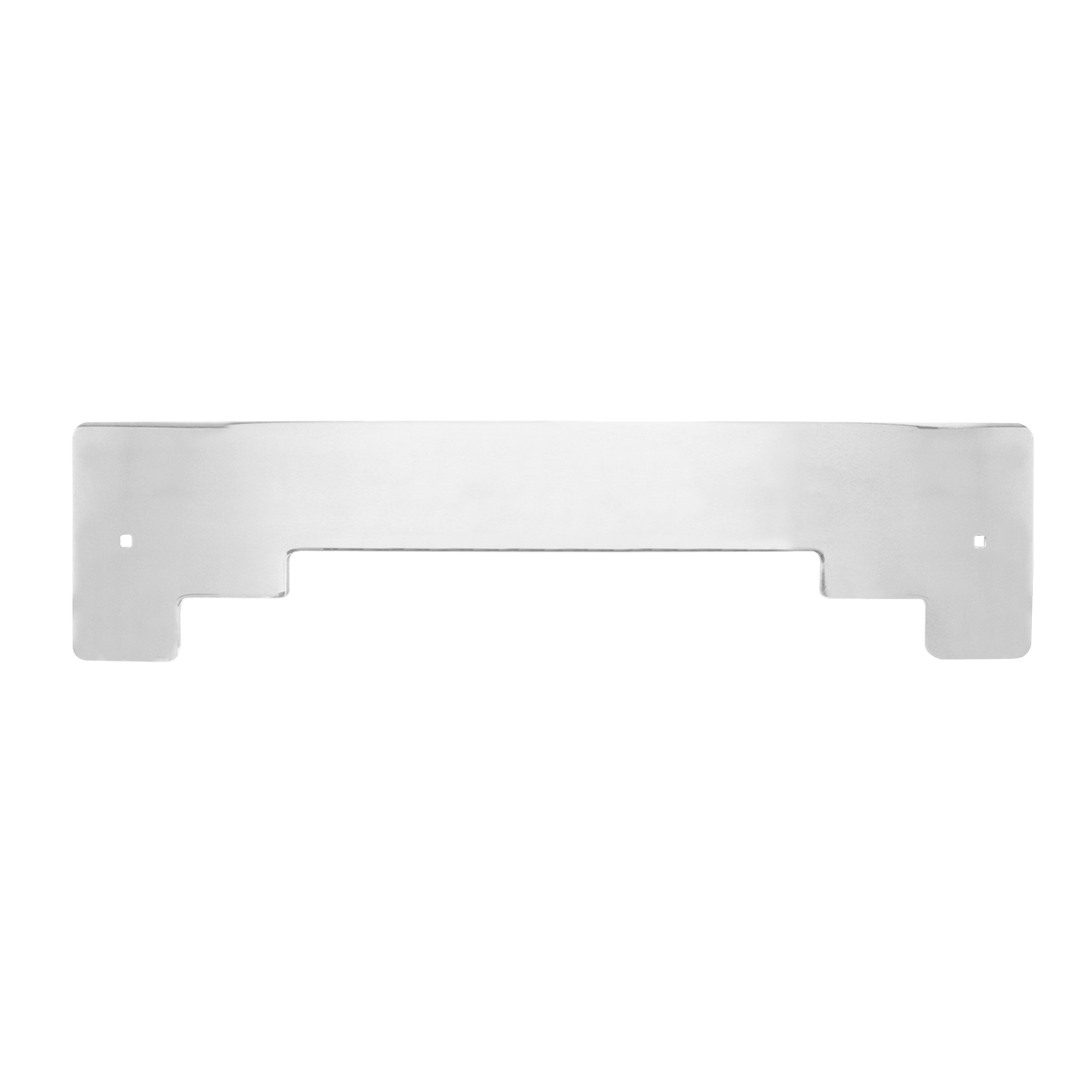 Chrome Plated Steel Step Style Bottom Mud Flap Plate w/o Backing Plate