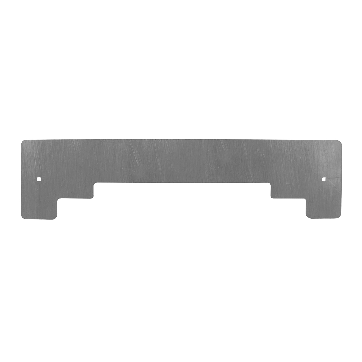 Chrome Plated Steel Step Style Bottom Mud Flap Plate with Backing Plate - Backing Plate View