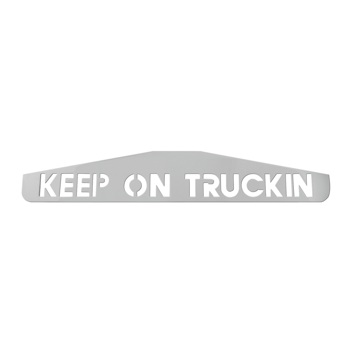 "Bottom Maud Flap Plate with ""Keep On Truckin"" Script"