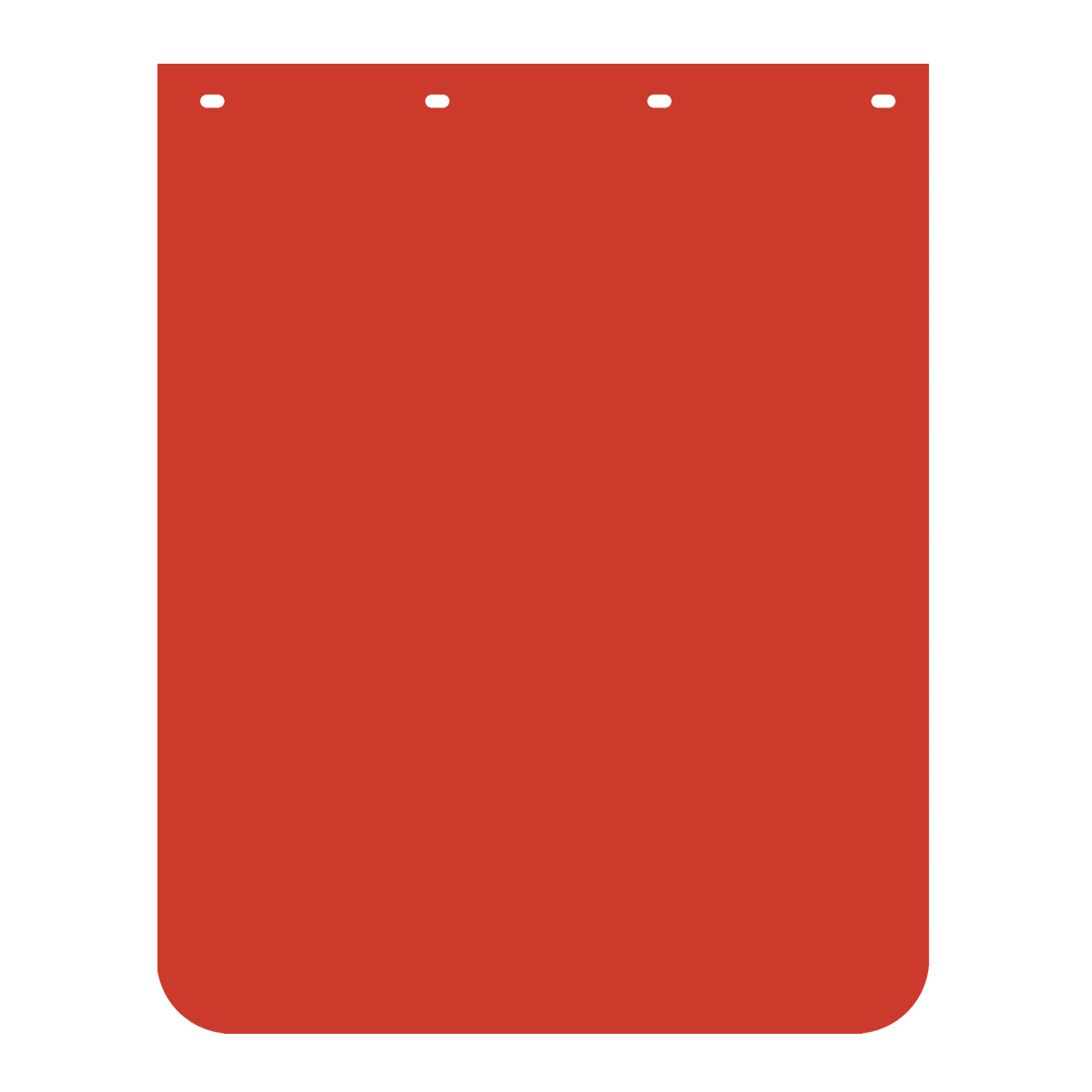 Red Plain Poly Mud Flap