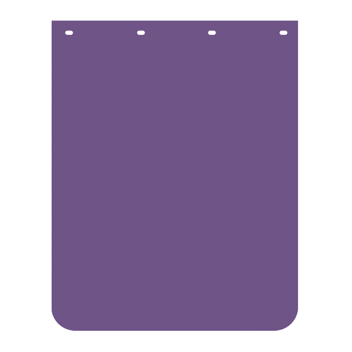 Purple Plain Poly Mud Flap