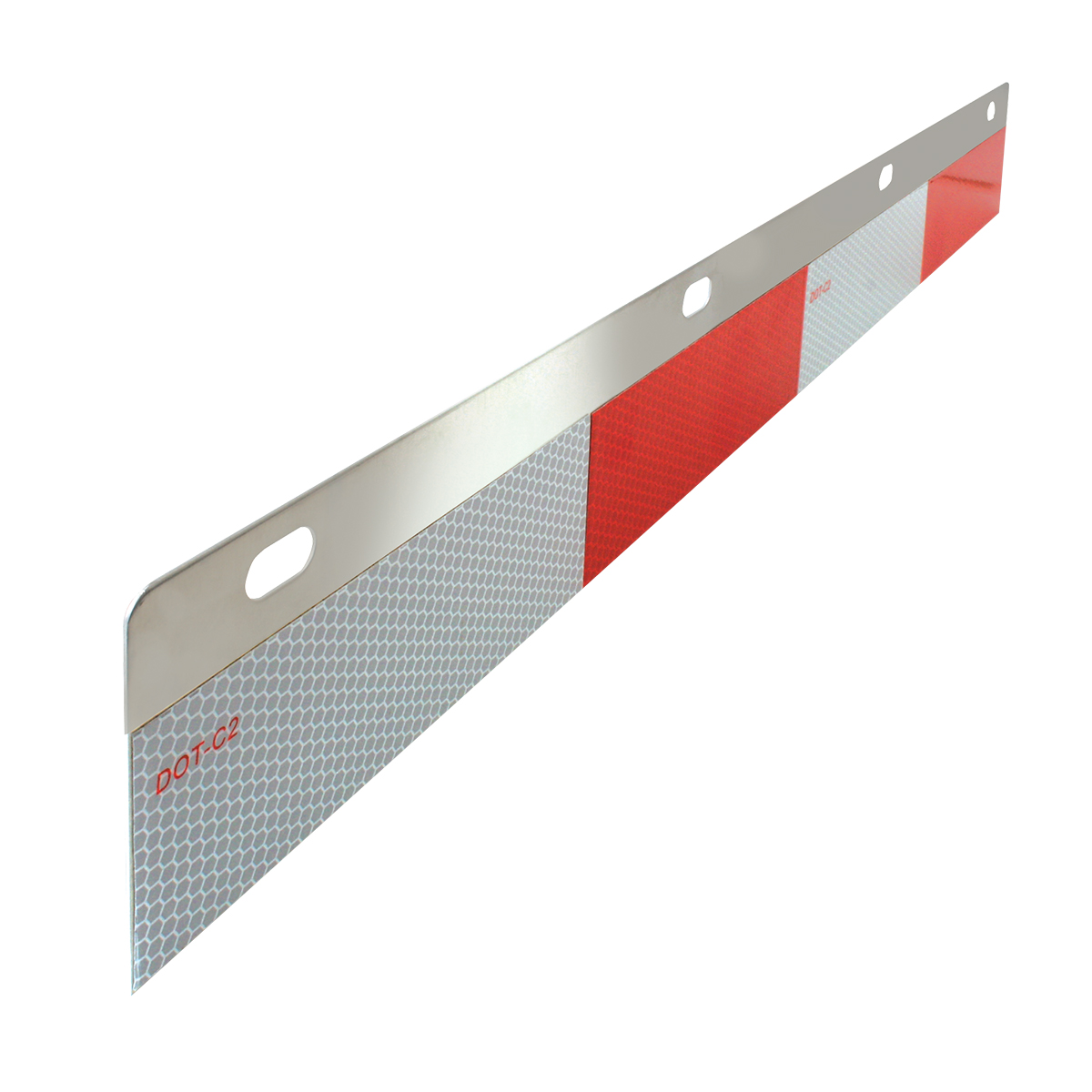 Straight Aluminum Reflector Top Plate - Side View