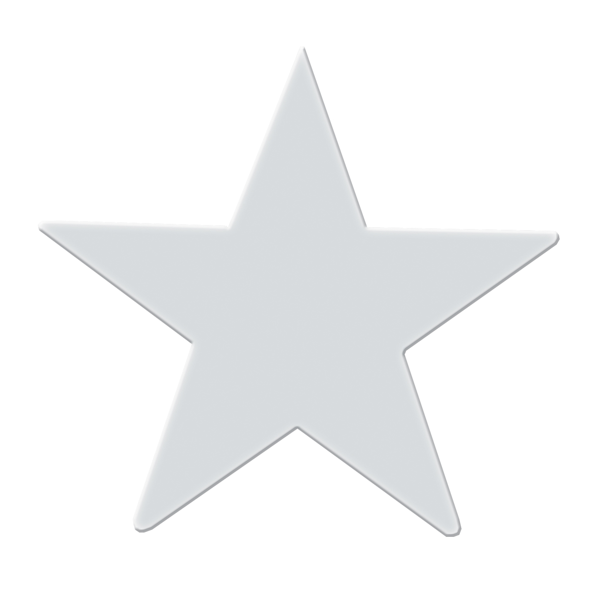 Chrome Plated Steel Star Cut Out