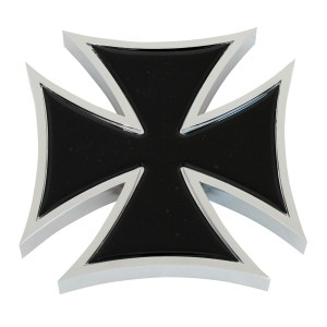 Iron Cross Accent with Colored Sticker