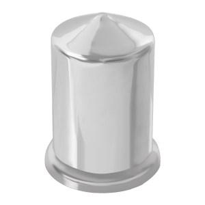Pointed Chrome Plastic Push-On Lug Nut Cover