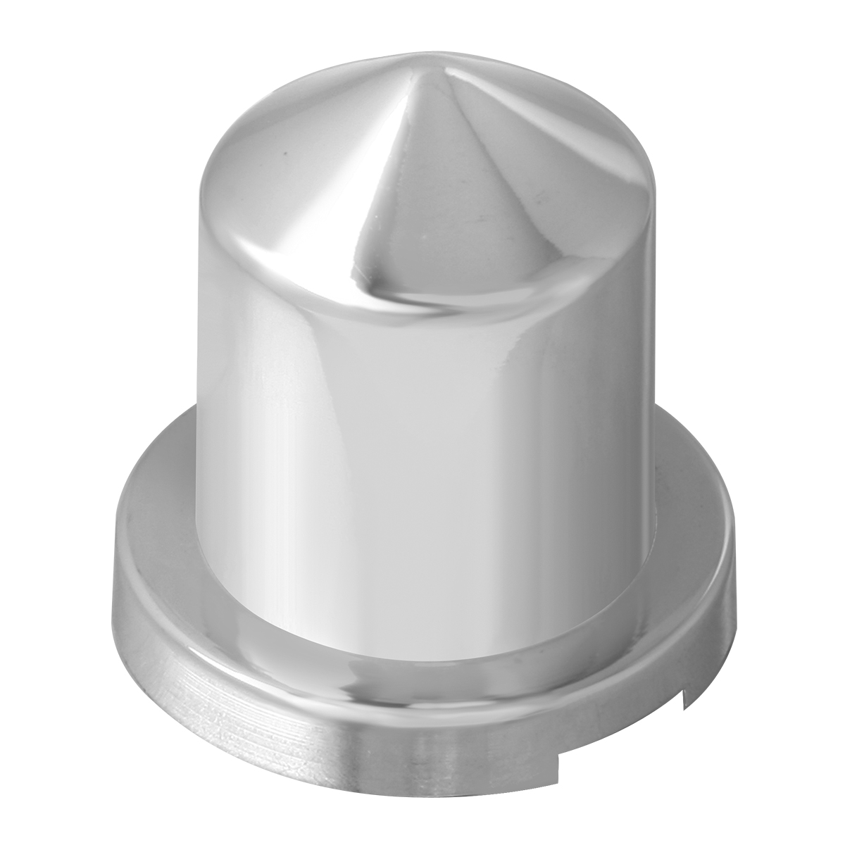 """Chrome Plastic ⅝"""" & 15 mm Push-On Multi-Size Round Pointed Lug Nut Cover"""