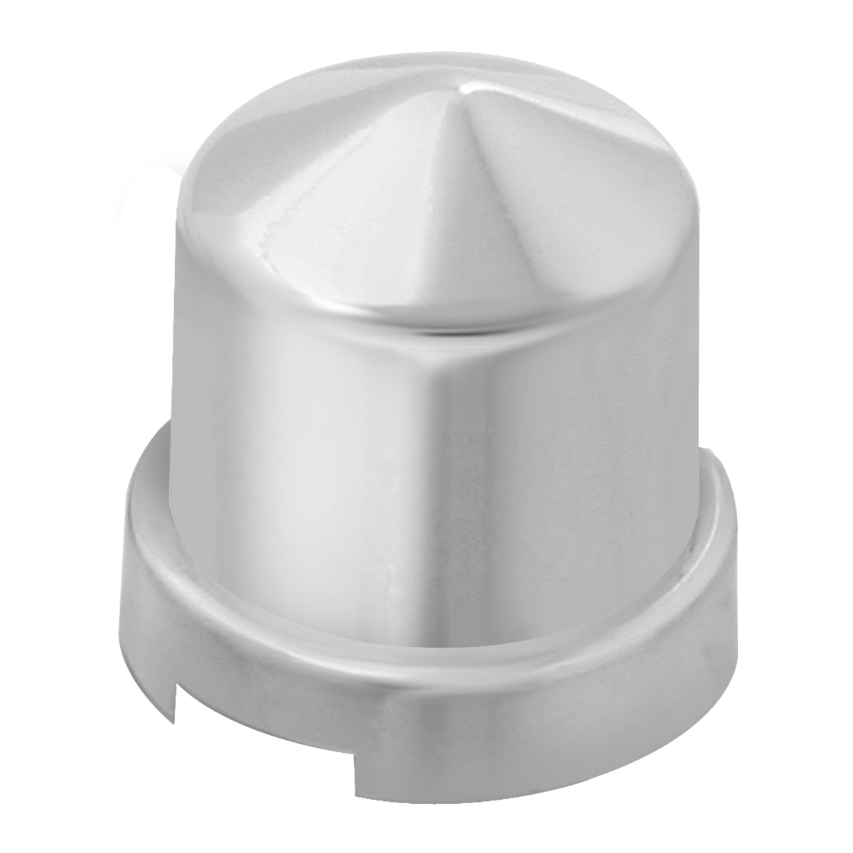 "Chrome Plastic ⁷∕₁₆"" & 12 mm Push-On Multi-Size Round Pointed Lug Nut Cover"