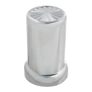 Chrome Plastic 33 mm Screw-On Pinwheel Lug Cover