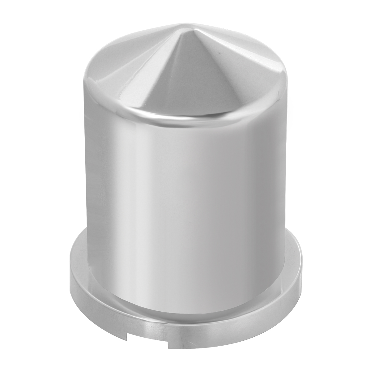 "Chrome Plastic ⅜"" & 10 mm Push-On Multi-Size Round Pointed Lug Nut Cover"