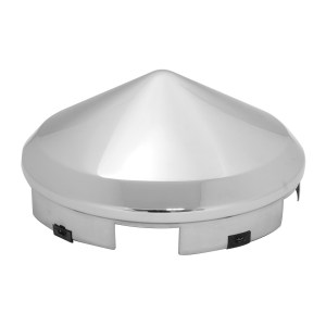 """Chrome Plated 1"""" Cone Front Hub Cap"""