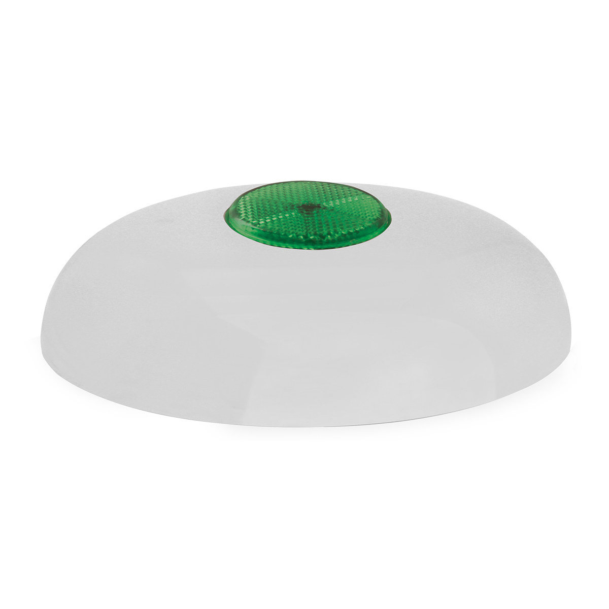Chrome Plated Steel Horn Cover with Green Reflector on Center