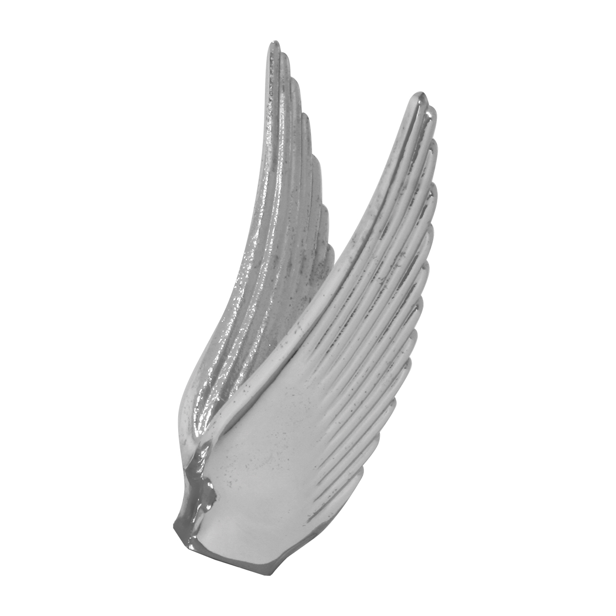Chrome Die Cast Flying Goddess Hood Ornament - Wings Only