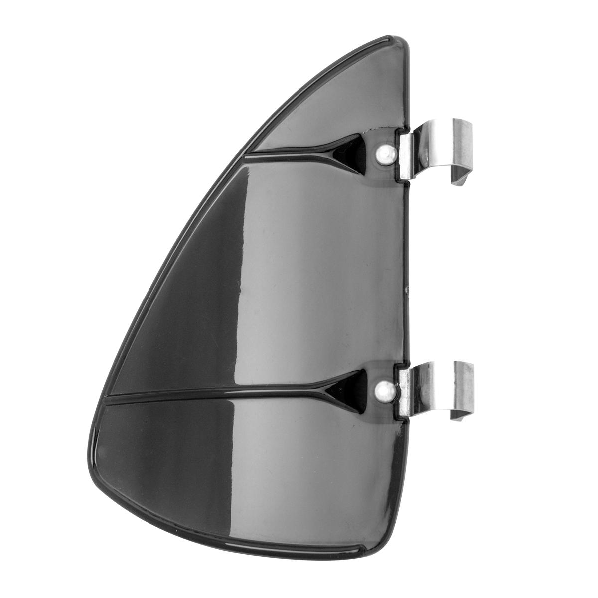 #50155 Acrylic Vent Wind Window Breeze w/ Stainless Steel Clips - Smoked Gray