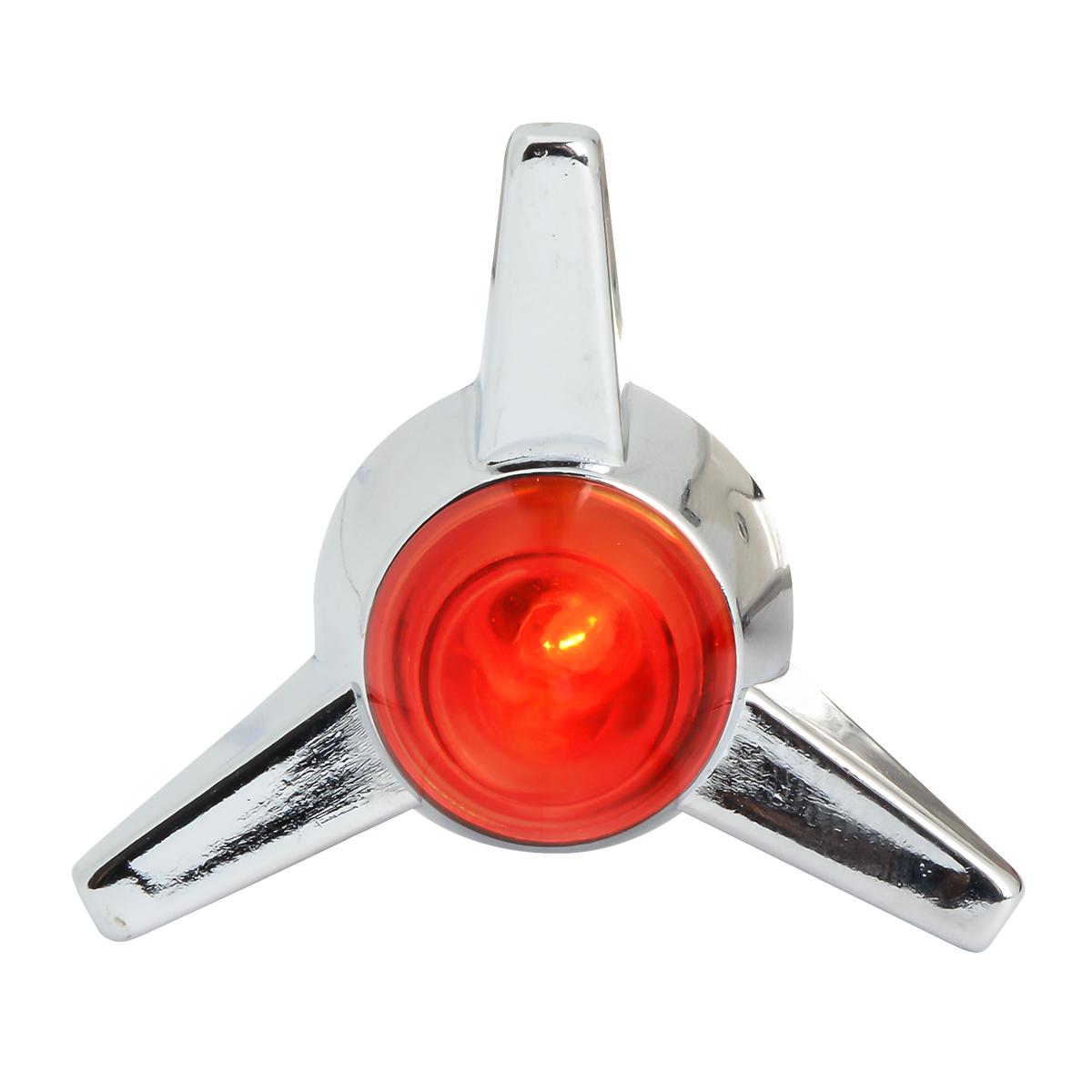 Spinner Style Lighted Fastener Set - Red