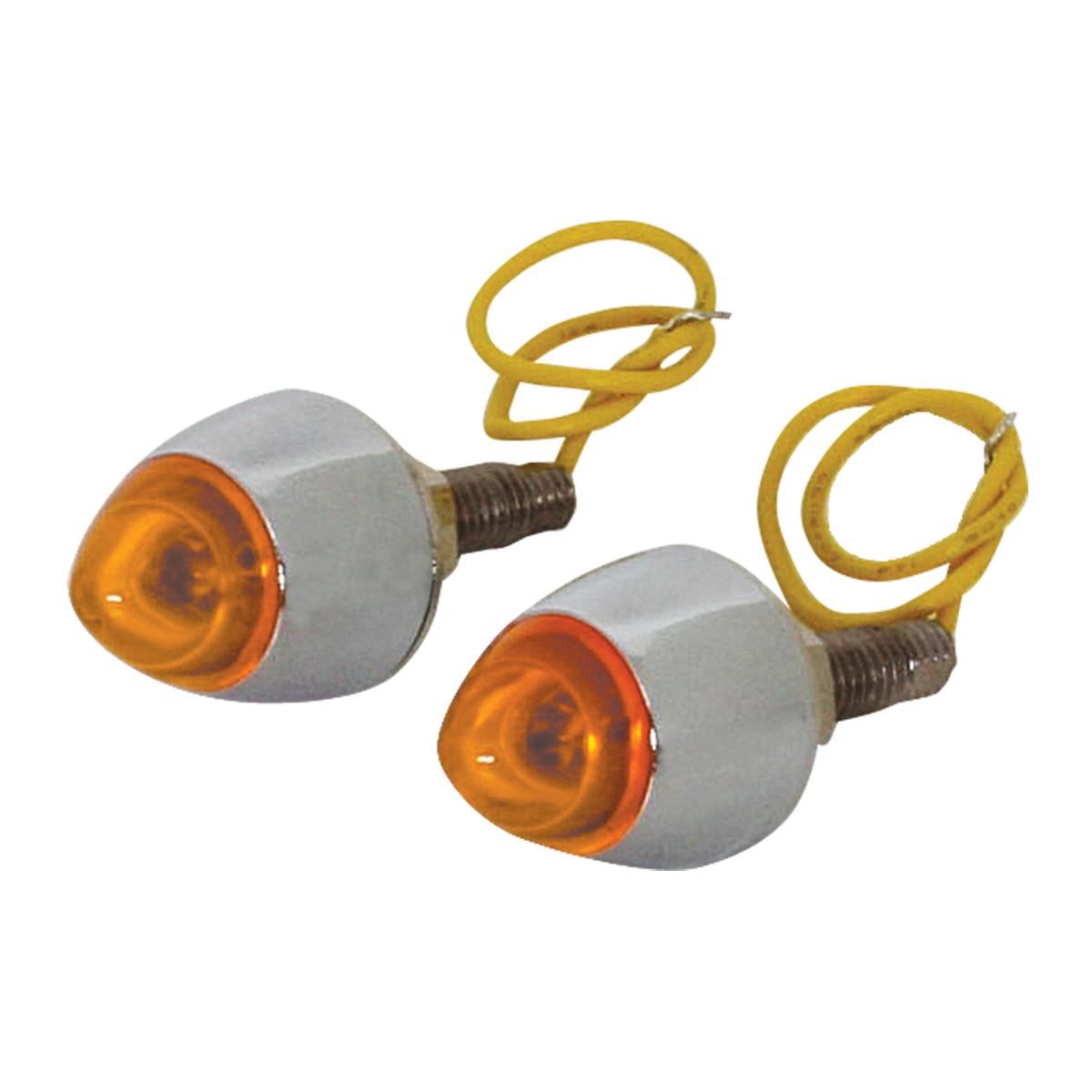 LED Lighted Bullet Fastener Set of 2 - Amber