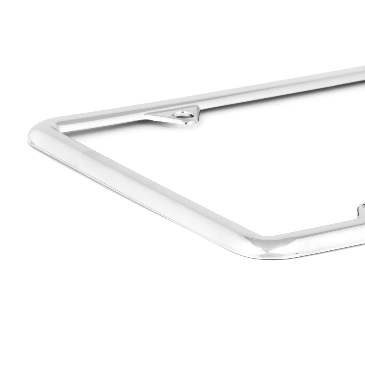 60061 Economic Chrome Zinc Classic 4-Hole License Plate Frames - Close Up View