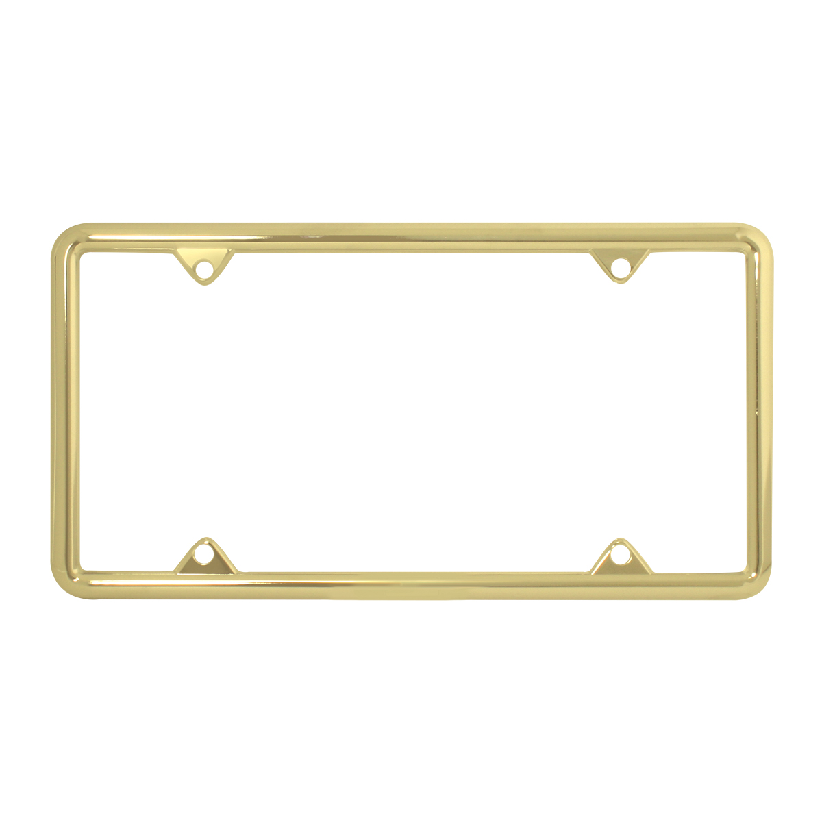 60062 Economic Brass-Plated Zinc Classic 4-Hole License Plate Frames