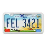 Plain 2-Hole License Plate Frames with Thin Bottom